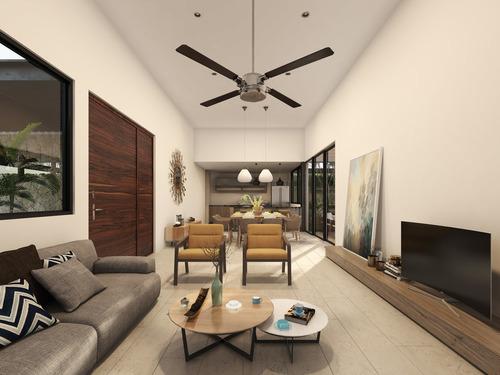 casa nueva de una planta en venta, modelo 3, puerta cumbre, cholul, mérida norte