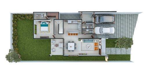 casa nueva en venta, abedules parque central, mod. dysis, cholul, mérida norte