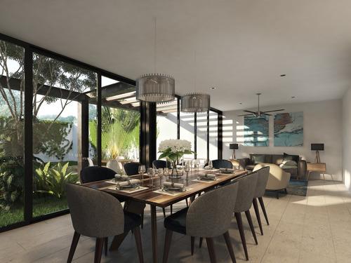casa nueva y equipada en venta, modelo 2, puerta cumbre, cholul, mérida norte