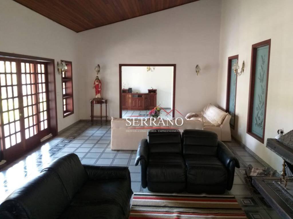 casa para alugar, 490 m² por r$ 5.000,00/mês - condomínio vista alegre - sede - vinhedo/sp - ca0545
