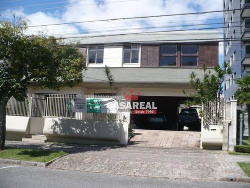 casa para alugar, 504 m² por r$ 10.000/mês - bigorrilho - curitiba/pr - ca0080