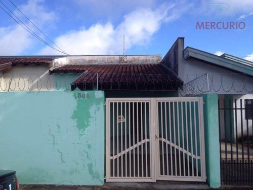 casa para alugar, 67 m² por r$ 750,00/mês - jardim terra branca - bauru/sp - ca1688