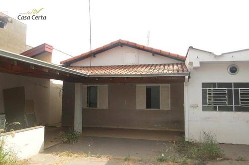 casa para alugar com ponto comercial, 250 m² por r$ 2.900/mês - parque cidade nova - mogi guaçu/sp - ca1364