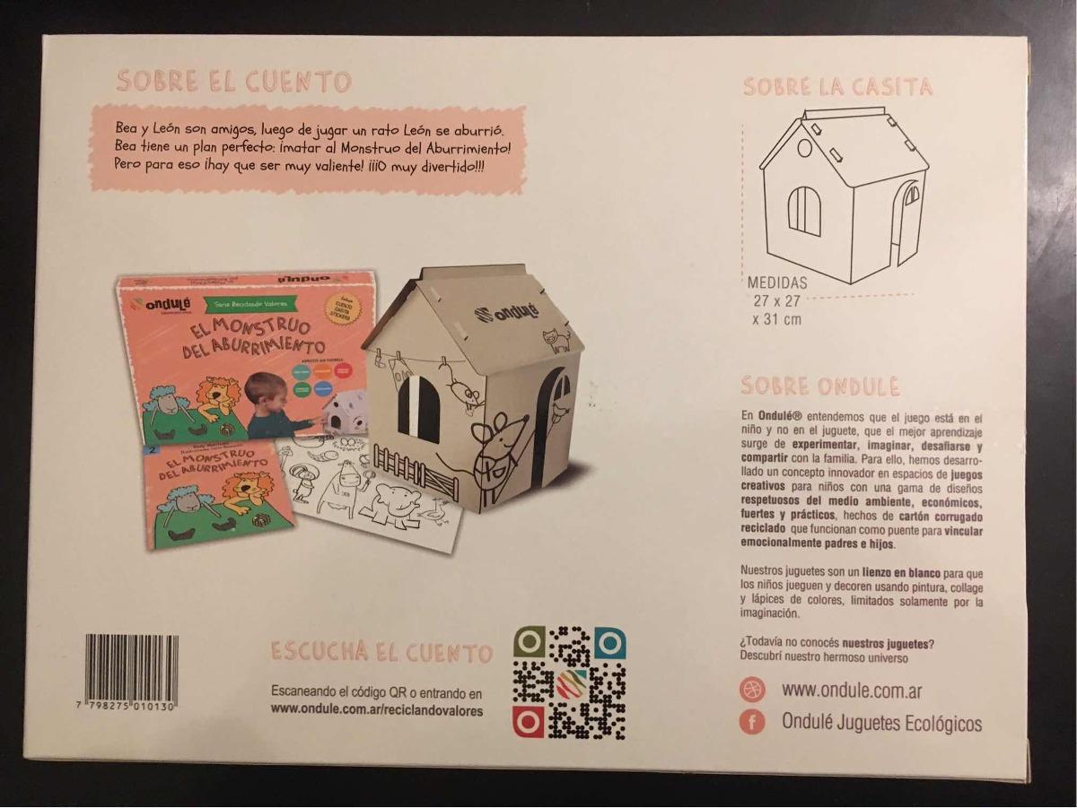 Casa Para Armar Y Pintar Con Cuento Carton Reciclado 210 00 En