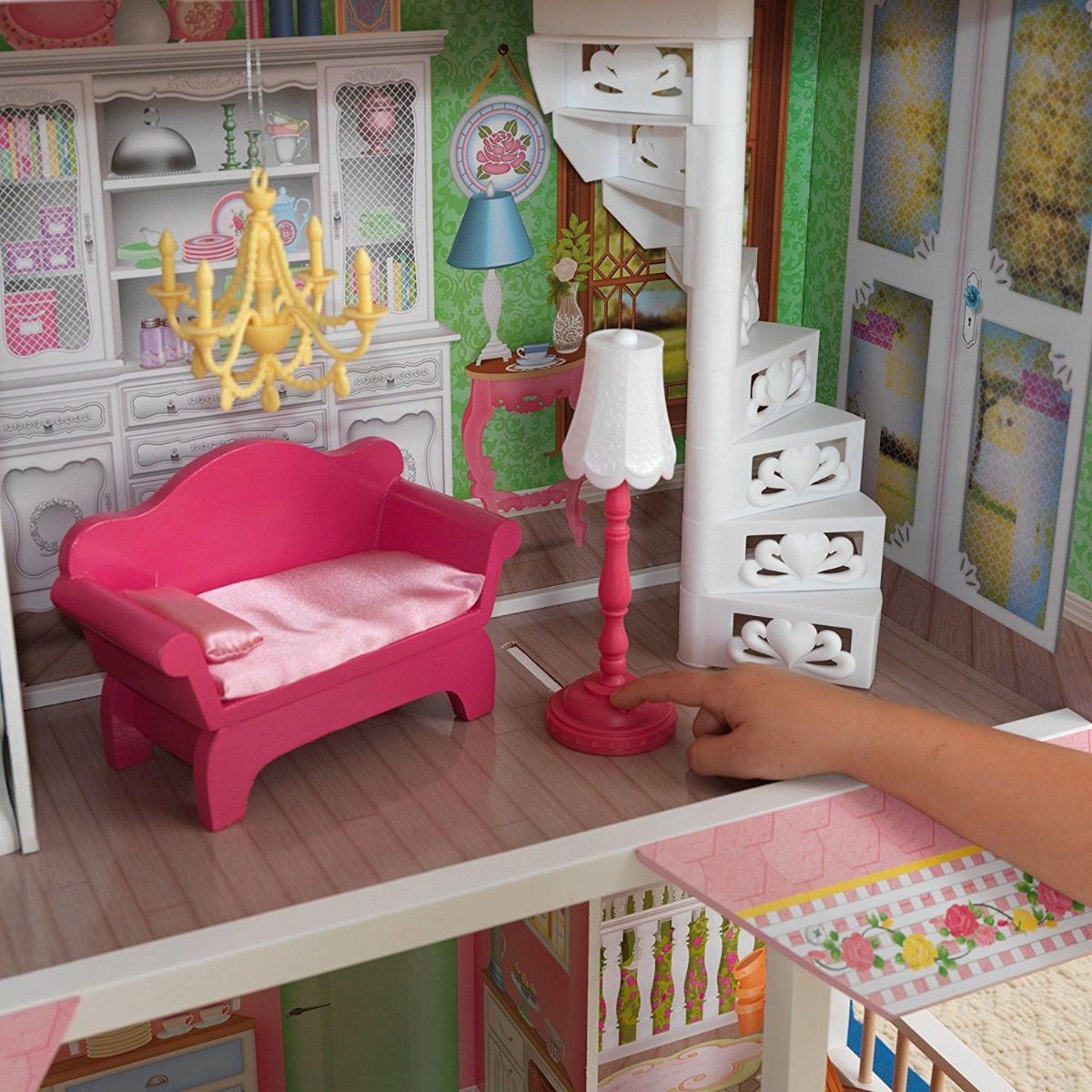 Casa Para Barbies Marca Kidkraft Con Accesorios Para Niñas ...