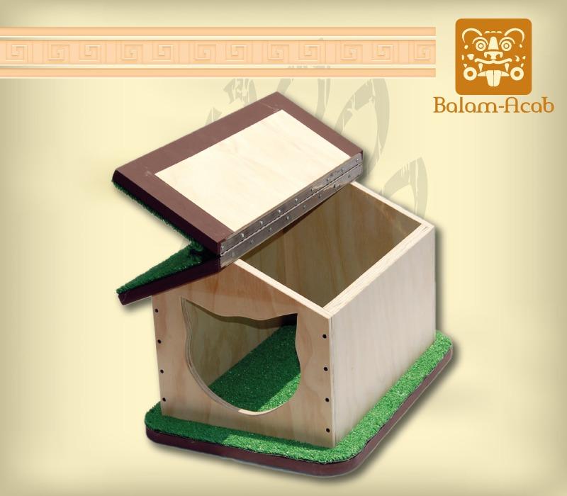 Casa para gato madera en mercado libre - Casas para gatos de madera ...