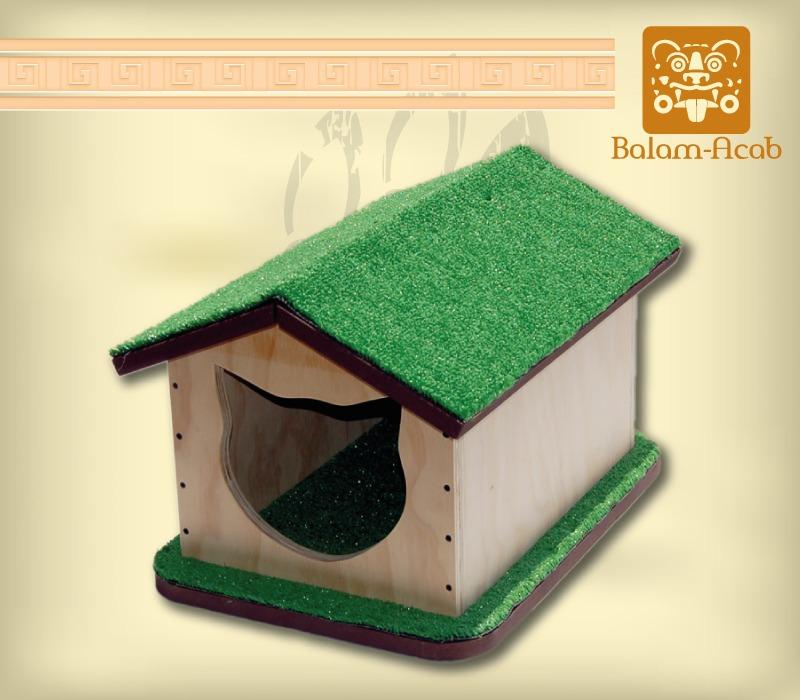 Casa para gato madera en mercado libre - Como se hace una casa de madera ...