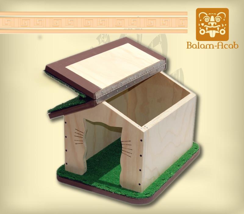 Casa para gato madera en mercado libre - Casas para gatos baratas ...