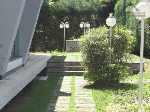casa para locação, lago azul condomínio e golfe clube em araçoiaba da serra-sp, área construída 334m², 3 suítes, espaço gourmet. - ca0066