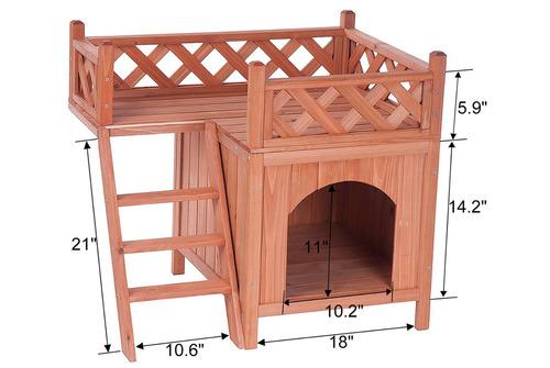 casa para mascotas kuyal puppy madera importada
