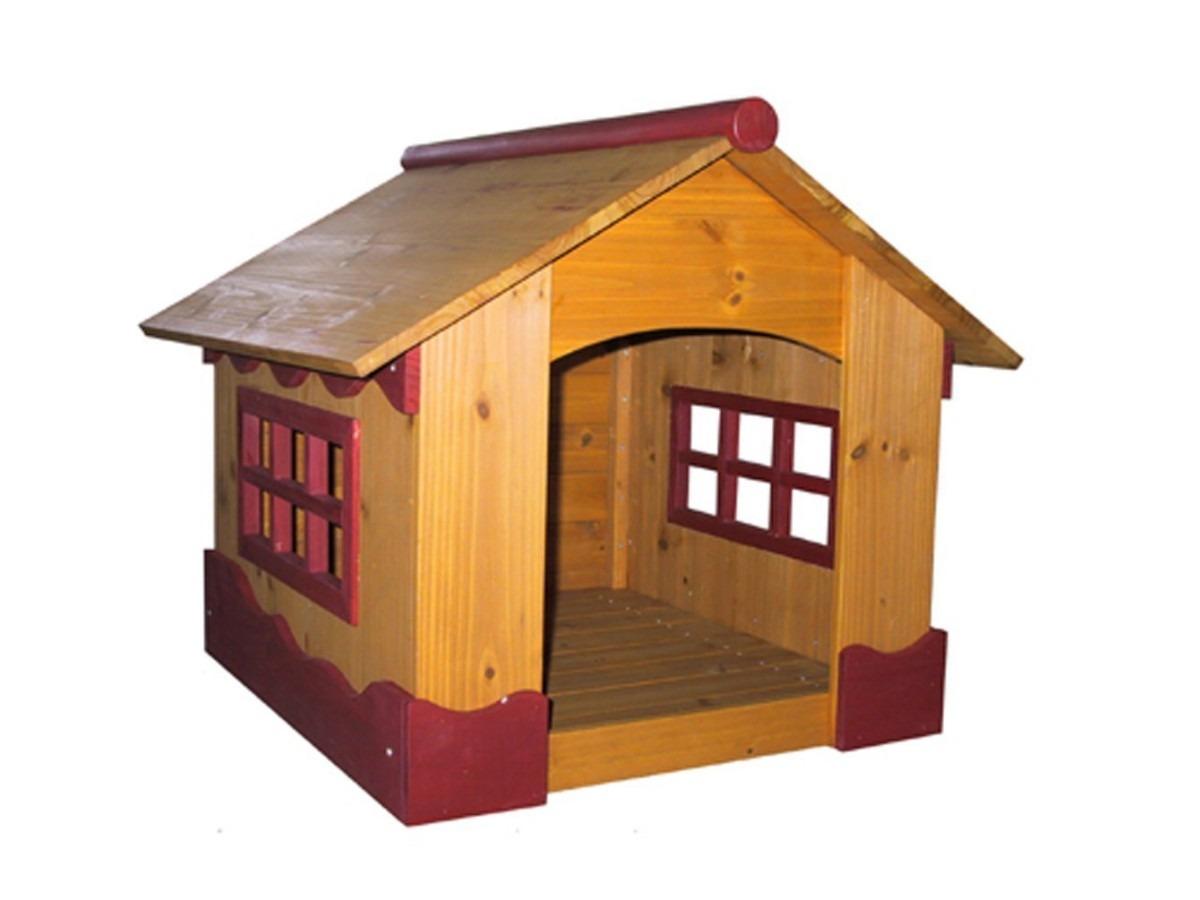 Casa para mascotas perros madera peque a vv4 3 for Casas para perros
