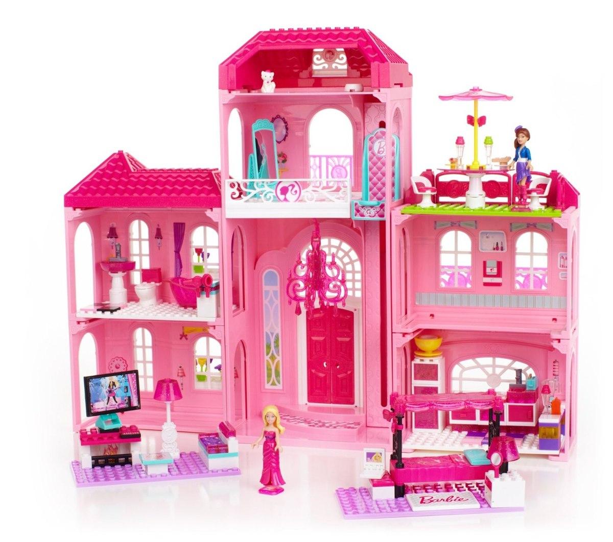Casa para mu ecas mega bloks barbie luxury mansion - Casa de munecas teatro ...