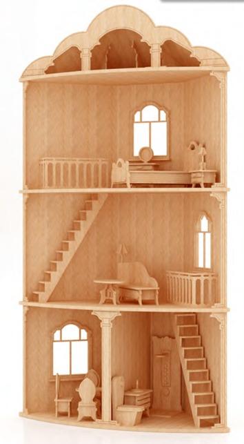 Casa esquina para mu ecas barbie monster high en madera - Accesorios para casa de munecas ...