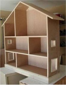 Casa Para Muñecas En Madera Cm 001 Al 004