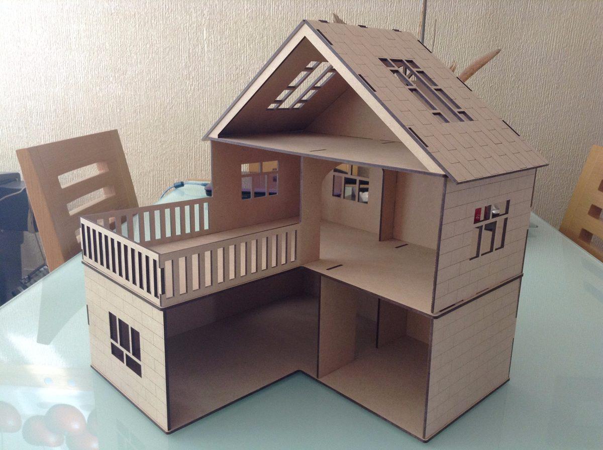 Casa para mu ecas l en madera mdf corte laser economica - Cosas para hacer en casa ...