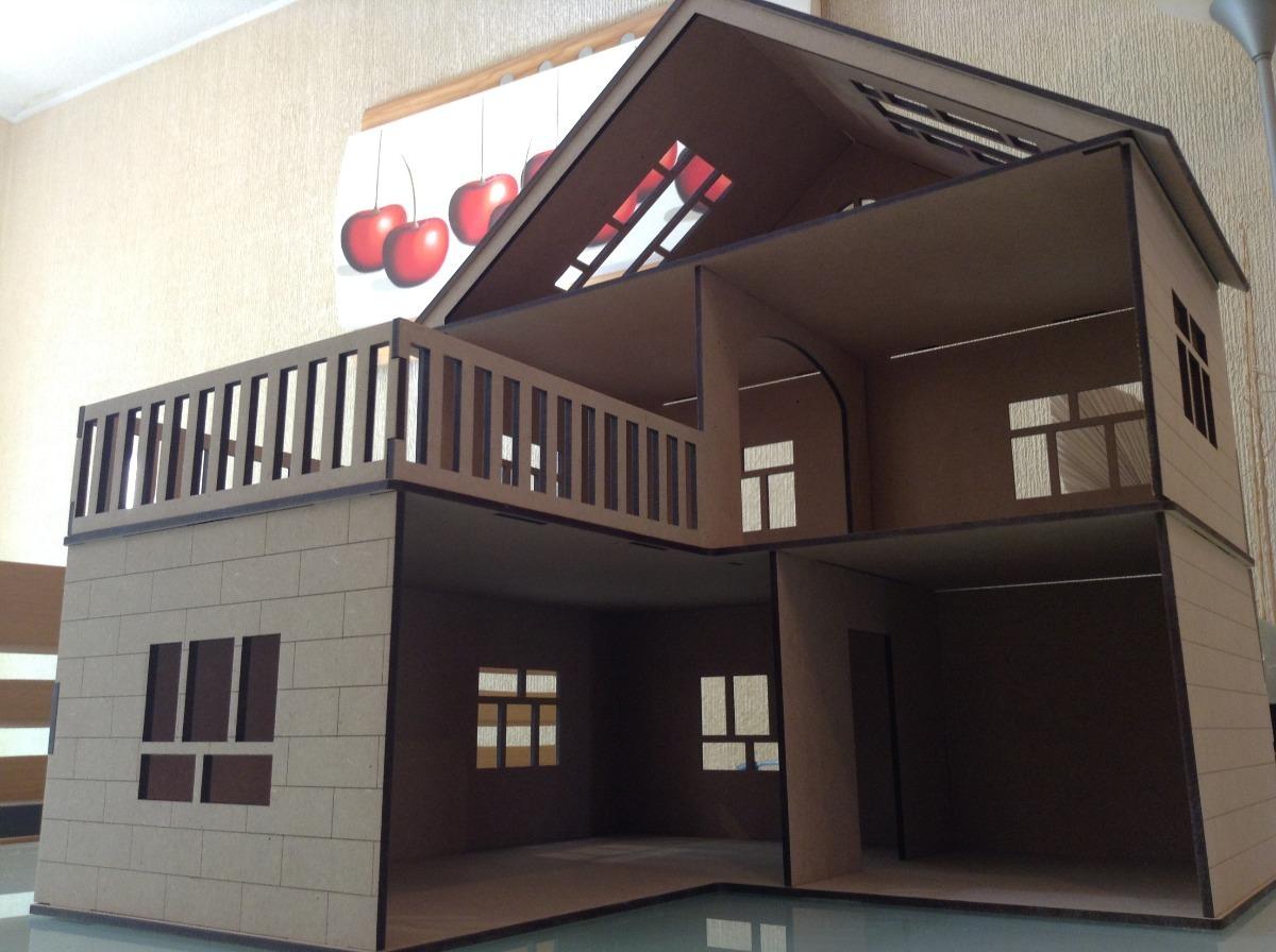 Casa para mu ecas l en madera mdf corte laser economica - Casa de munecas teatro ...