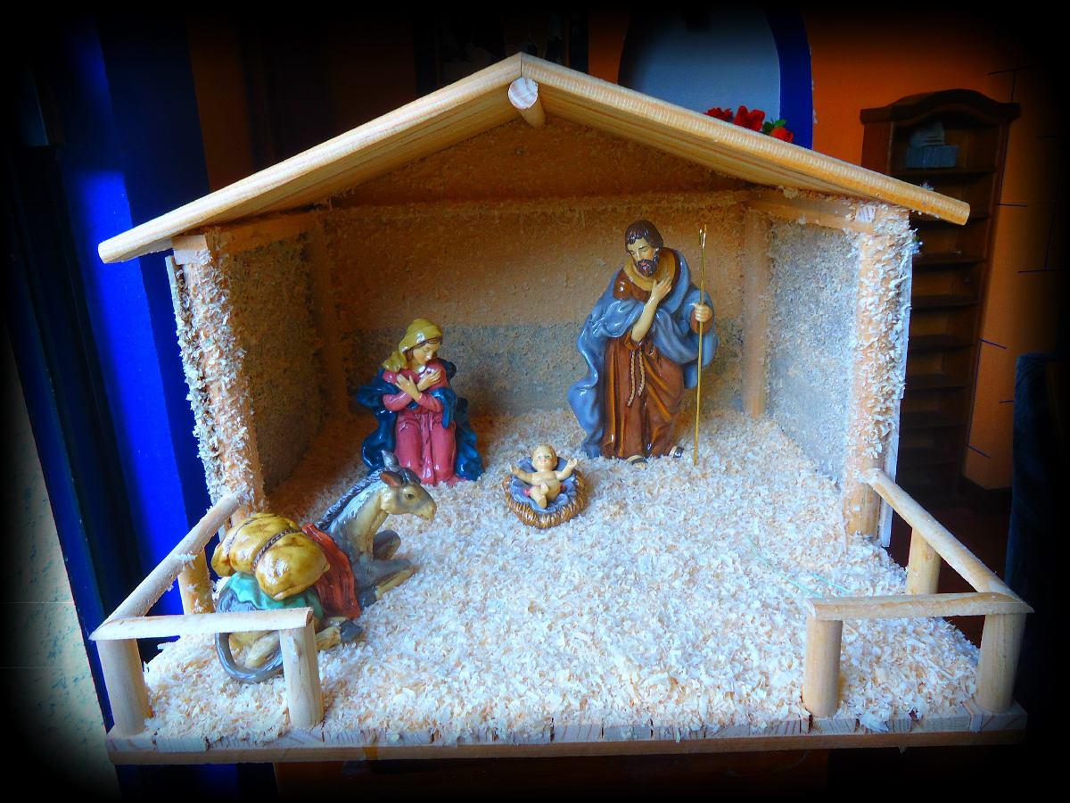 Casa para nacimiento navide o pecebre establo - Casitas de nacimientos de navidad ...