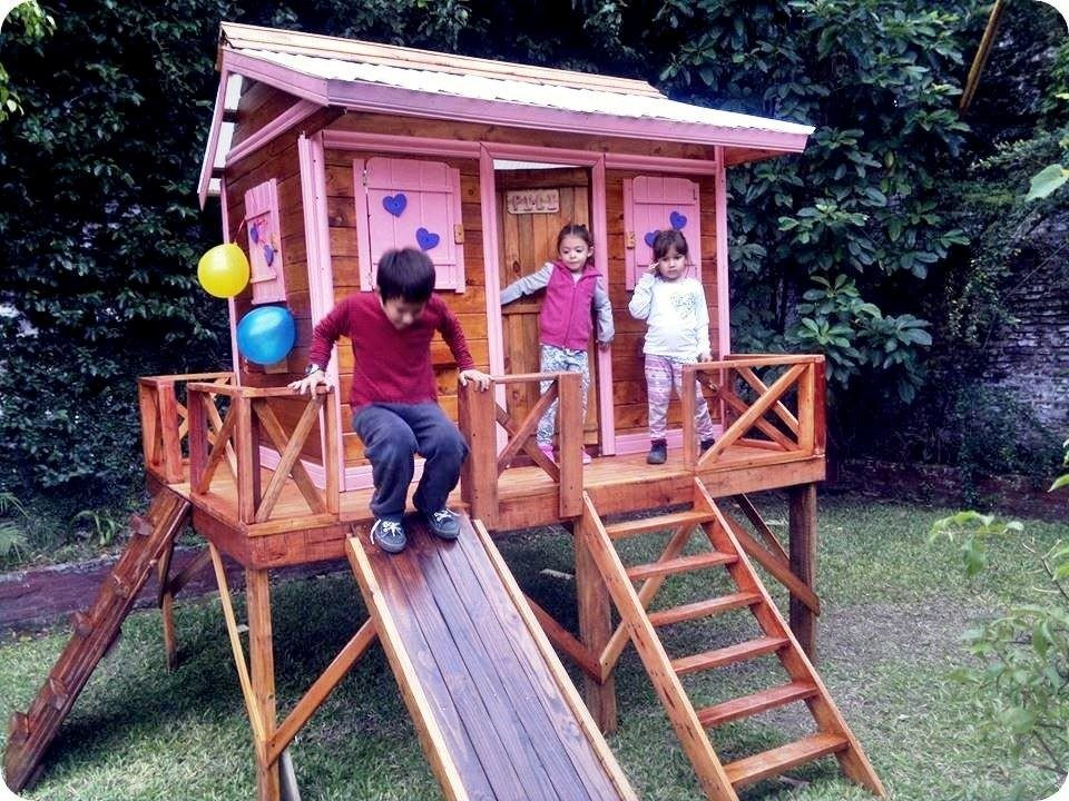 Casa Para Niños Y Niñas Con Tobogán - $ 27.890,00 en Mercado Libre