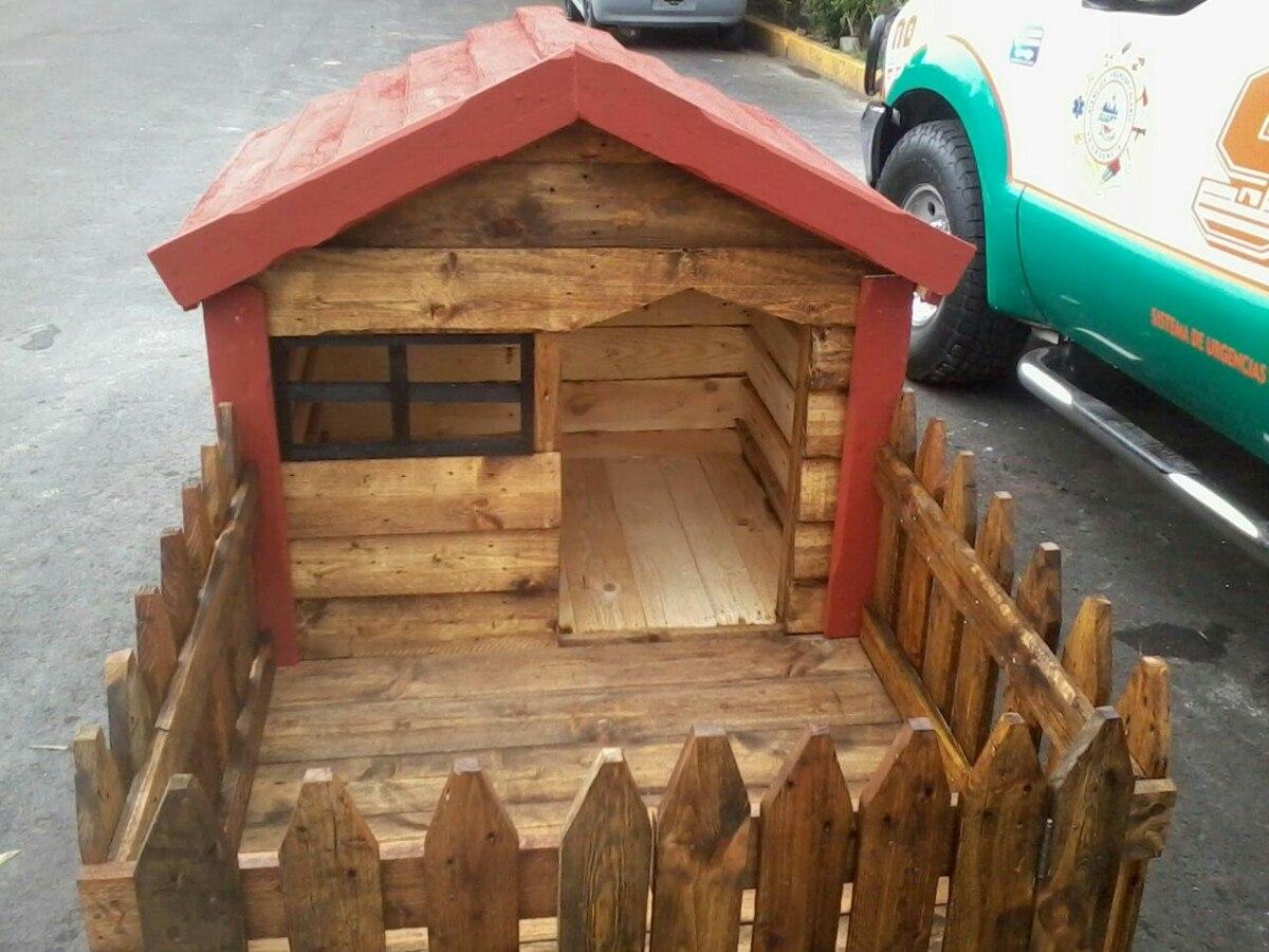 Casa para perro chico con cerca 1 en mercado libre - Casas para perros con palets ...