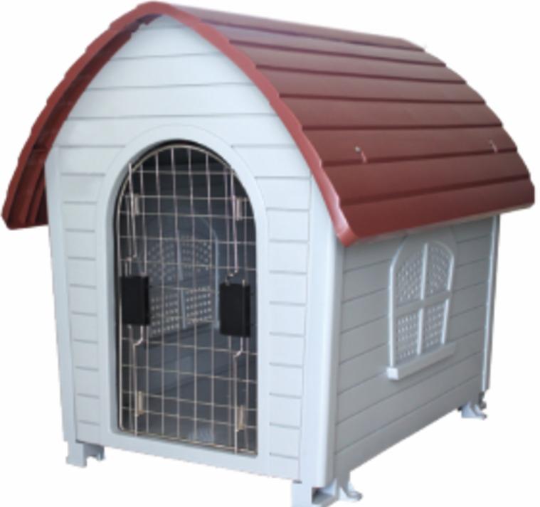 Casa para perro chico mediano con puerta metal desmontable for Puertas perros medianos