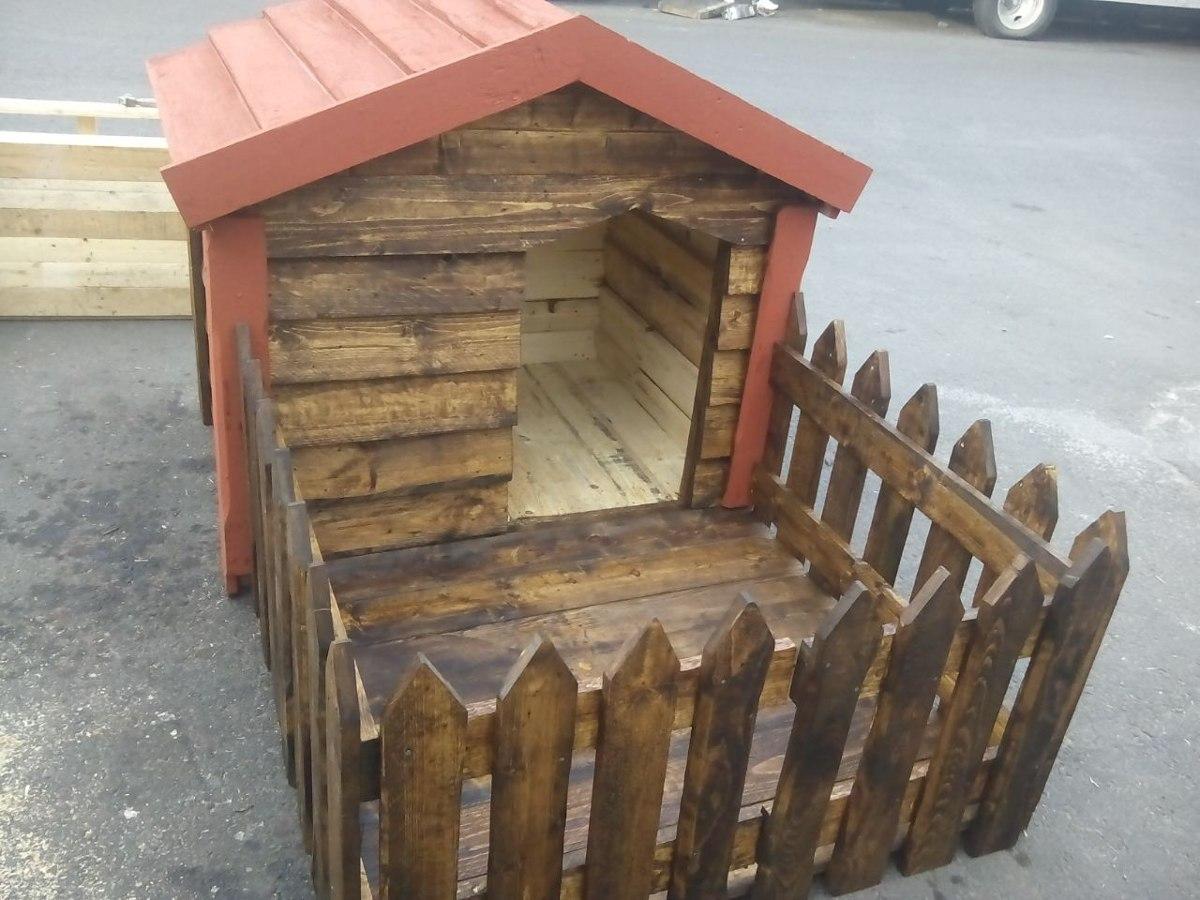 Casa para perro con cerca 2 en mercado libre - Como hacer una casa para perro grande ...