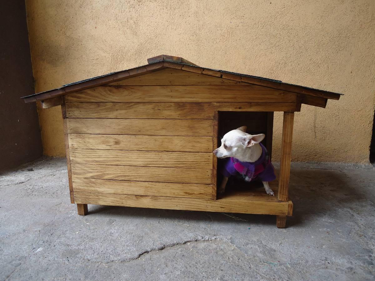 Casa para perro con terraza lateral no 1 1 en - Cuanto cuesta una casa de madera ...