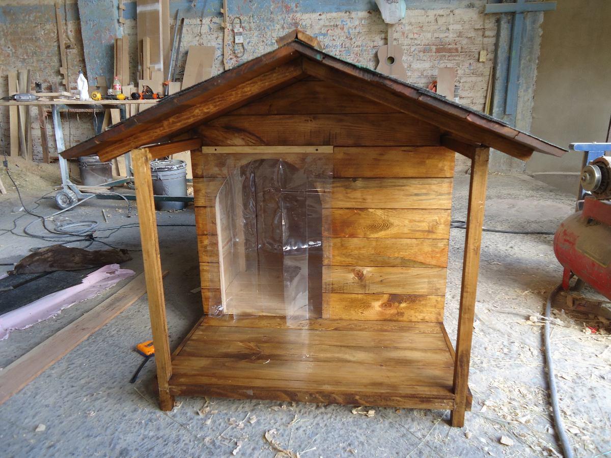 Casa para perro con terraza lateral no 5 de lujo - Casa de perro con palets ...