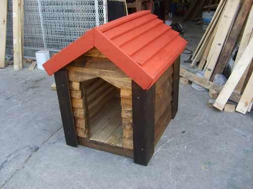 Casa para perro de madera 90 x 80 de super lujo bonitas Casas para perros de madera