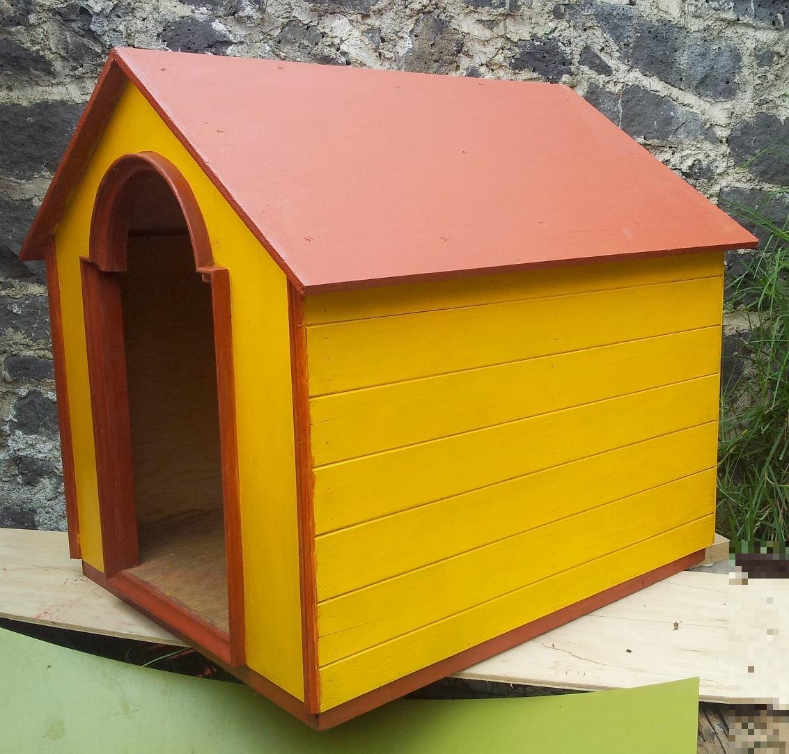 Casa para perro de madera fina 80 x 70 x 75 la mejor - Casas para gatos de madera ...