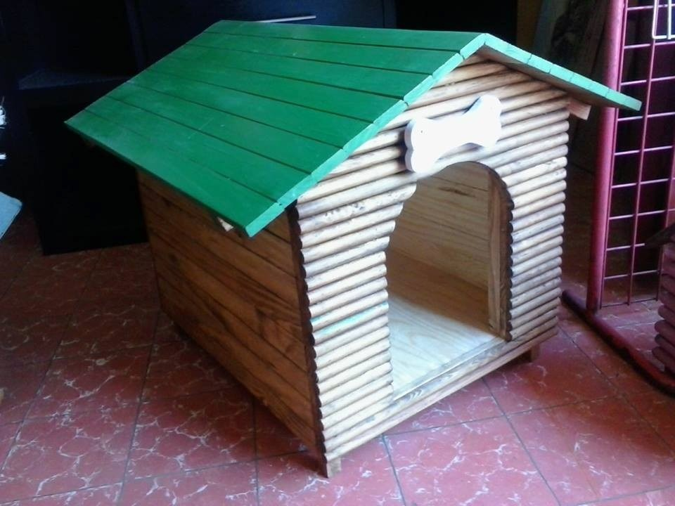Casa para perro de madera no 2 frente de troncos - Casa de madera de ocasion ...