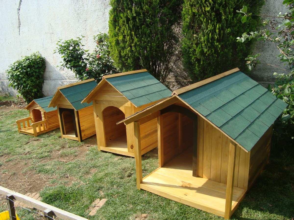 Casa Para Perro De Madera Residencial Con Terraza D Lujo