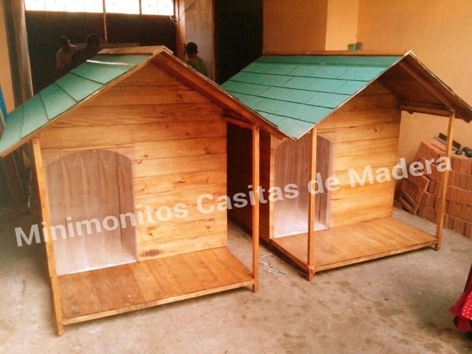 Casa para perro de madera residencial con terraza d lujo for Casas de madera para terrazas