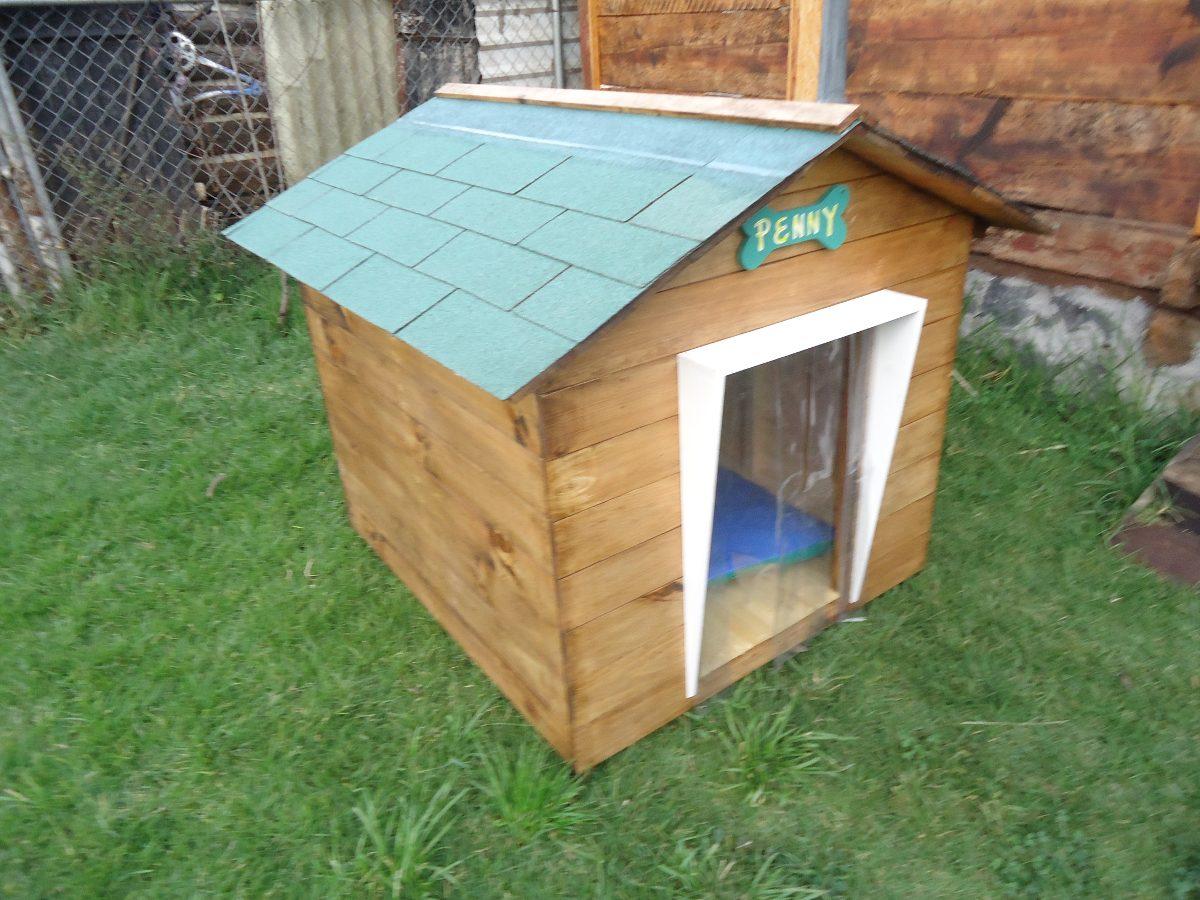 Casa para perro de madera snoopy numero 6 techo vs lluvia - Madera para casa ...