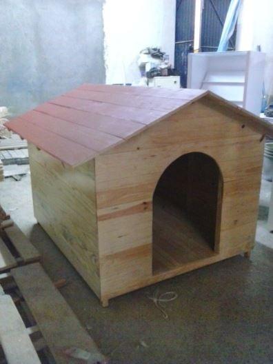 Casa Para Perro De Madera Tipo Snoopy No 8 Techo Sencillo