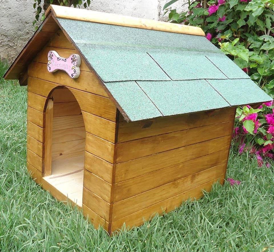 Casa para perro de madera tipo snoopy numero 2 Casas para perros de madera