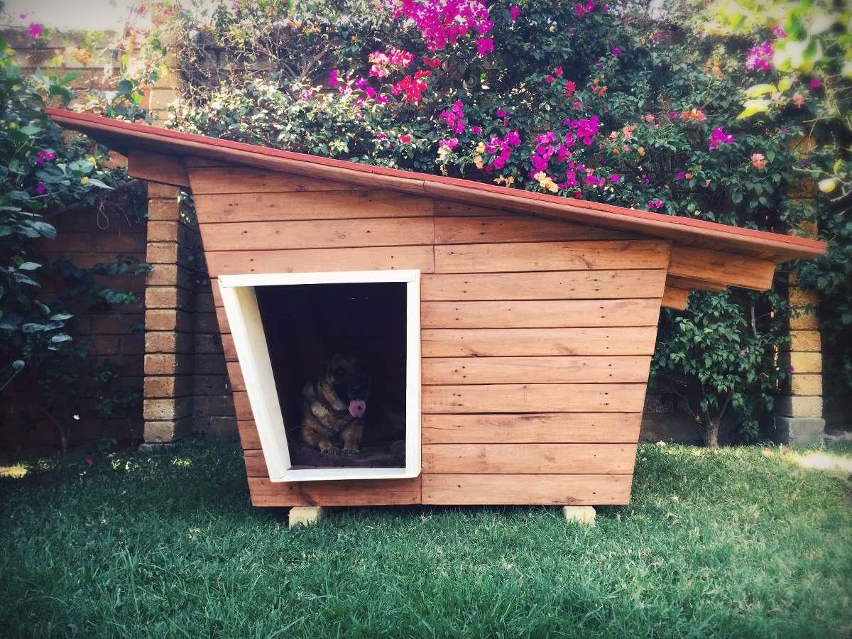 Casa para perro en madera reciclada 4 en - Como hacer una casa para perro grande ...