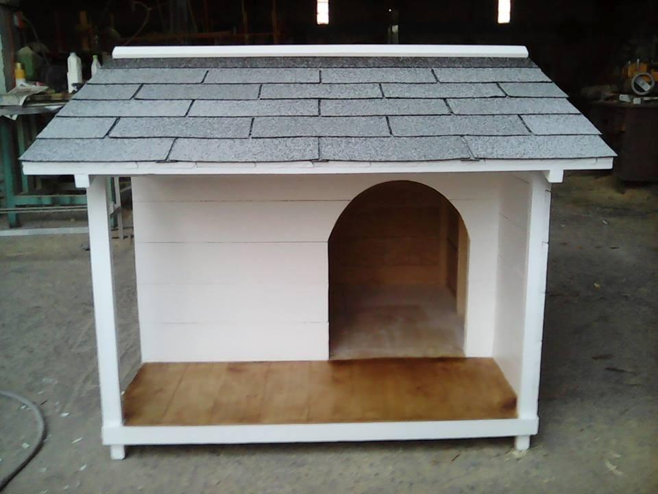 Casa para perro terraza lateral no 6 techo contra lluvia - Mascotas en casa ...