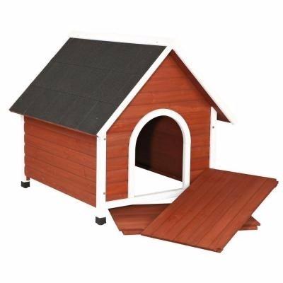 Casa para perros medianos y grandes de madera 2 for Cuanto cuesta una casa de madera