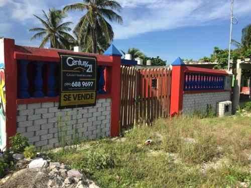 casa para remodelar a 1 cuadra del mar en chelem yucatan
