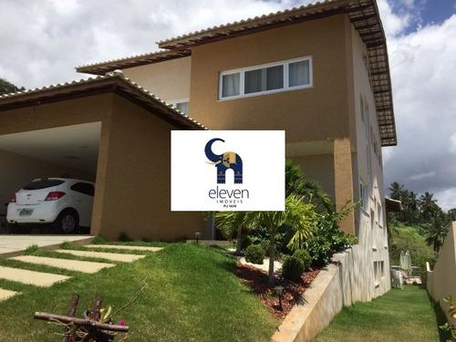 casa para venda e locação alphaville ii, salvador 4 dormitórios sendo 4 suítes 430,00 útil, 430,00 total r$  2.150.000,00 para venda, - tja658 - 4333888