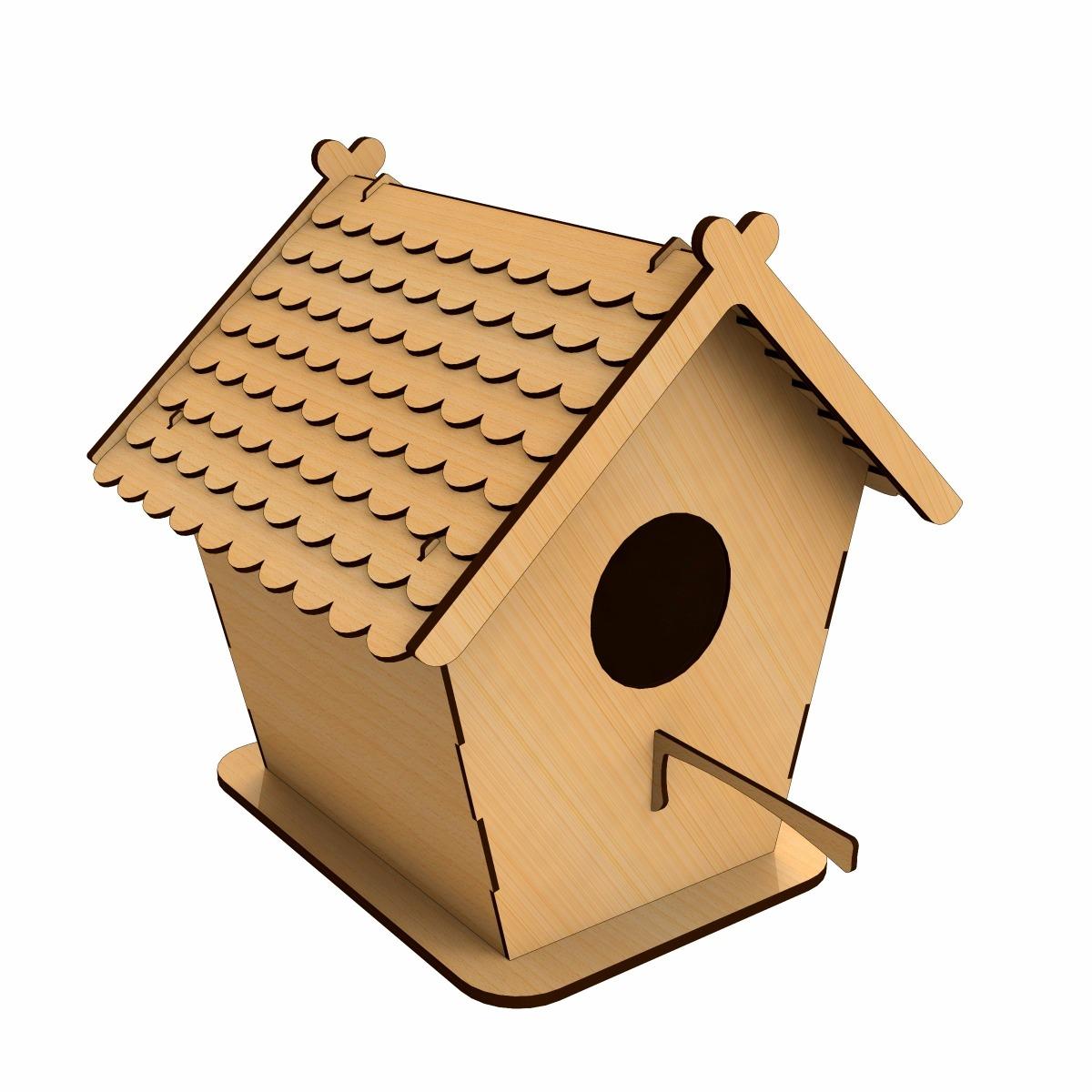 Casa Pássaro Em Mdf Cortado A Laser Periquito Calopsita Mdf R$ 68  #220E06 1200x1200