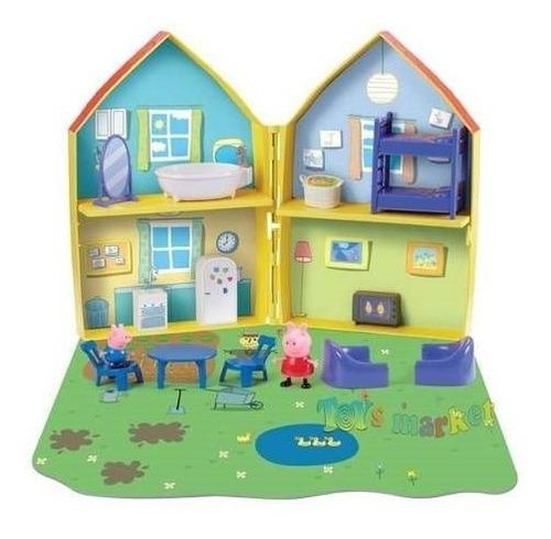 casa peppa pig con accesorios ,peppa y george house playset