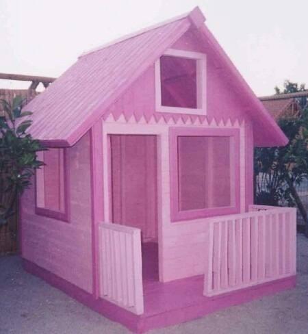 Casa peque a de ni a en madera ideal para jardines bs for Casas de madera pequenas