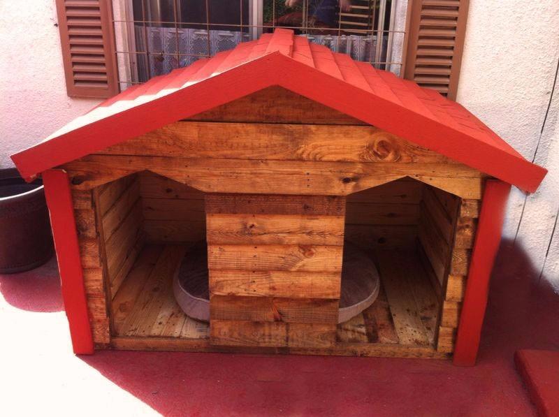 Casa de madera para perro extra grande dogo 3 for Puertas perros medianos