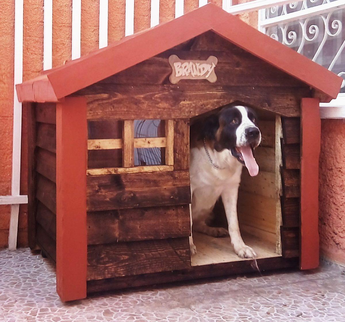 5eb5835147b Casa De Madera Para Perro Grande Impermeabilizada (dogo ...