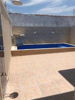 casa perto da praia, itanhaém/sp! com piscina, churrasqueira