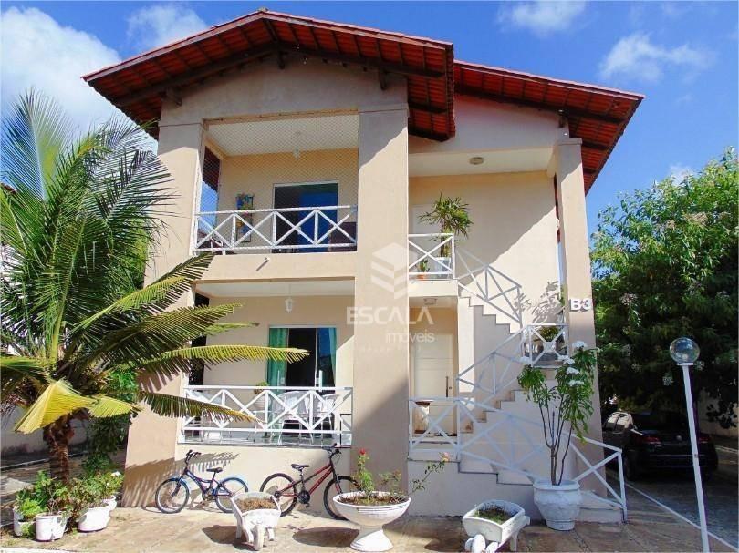 casa plana com 3 quartos à venda, 94,00m², varanda, 2 vagas, área de lazer, financia - sapiranga - fortaleza/ce - ca0321