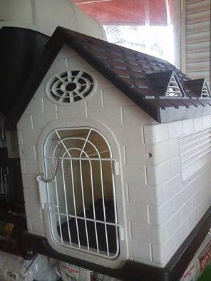 Casa plastico abs perros gatos medianos peque os puerta ng for Puertas perros medianos