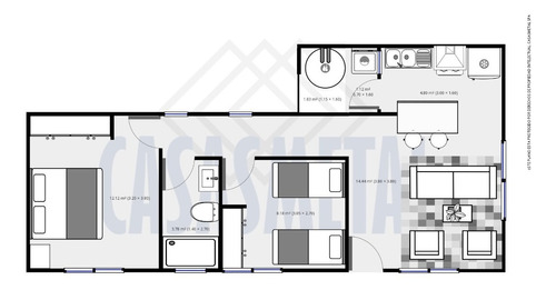 casa prefabricada metalcon mediterráneo nativa 54 m2 rootman