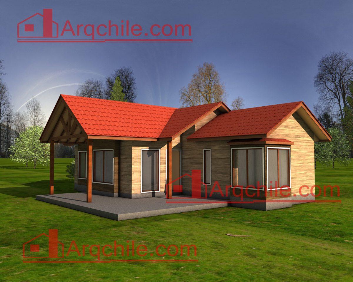 Casa prefabricada modelo curico 2 80 m2 en for Modelo de casa de 4x6